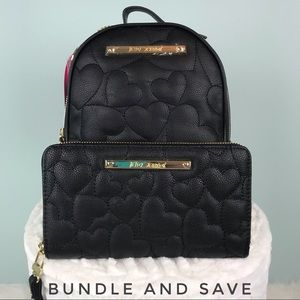 JUST LISTED - Betsey Johnson mini backpack wallet
